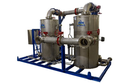 The PRM Moisture Separator is internally manufactured and our design ensures highly efficient operation. These moisture separators are typically used with our SVE, DPE, or blower stations.