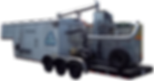 RT-850 Mobile tratment trailer andem 20HP liquid ring pumps 600CFM Electric Cataltic Oxidizer