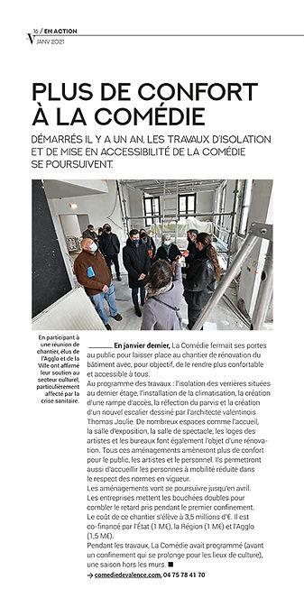 Article Le V  - La Comédie - Janvier 2021