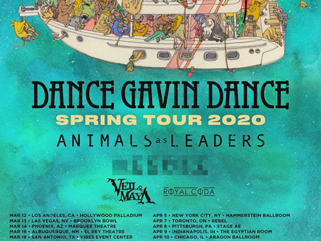 Dance Gavin Dance Announces North American Headline Spring Tour