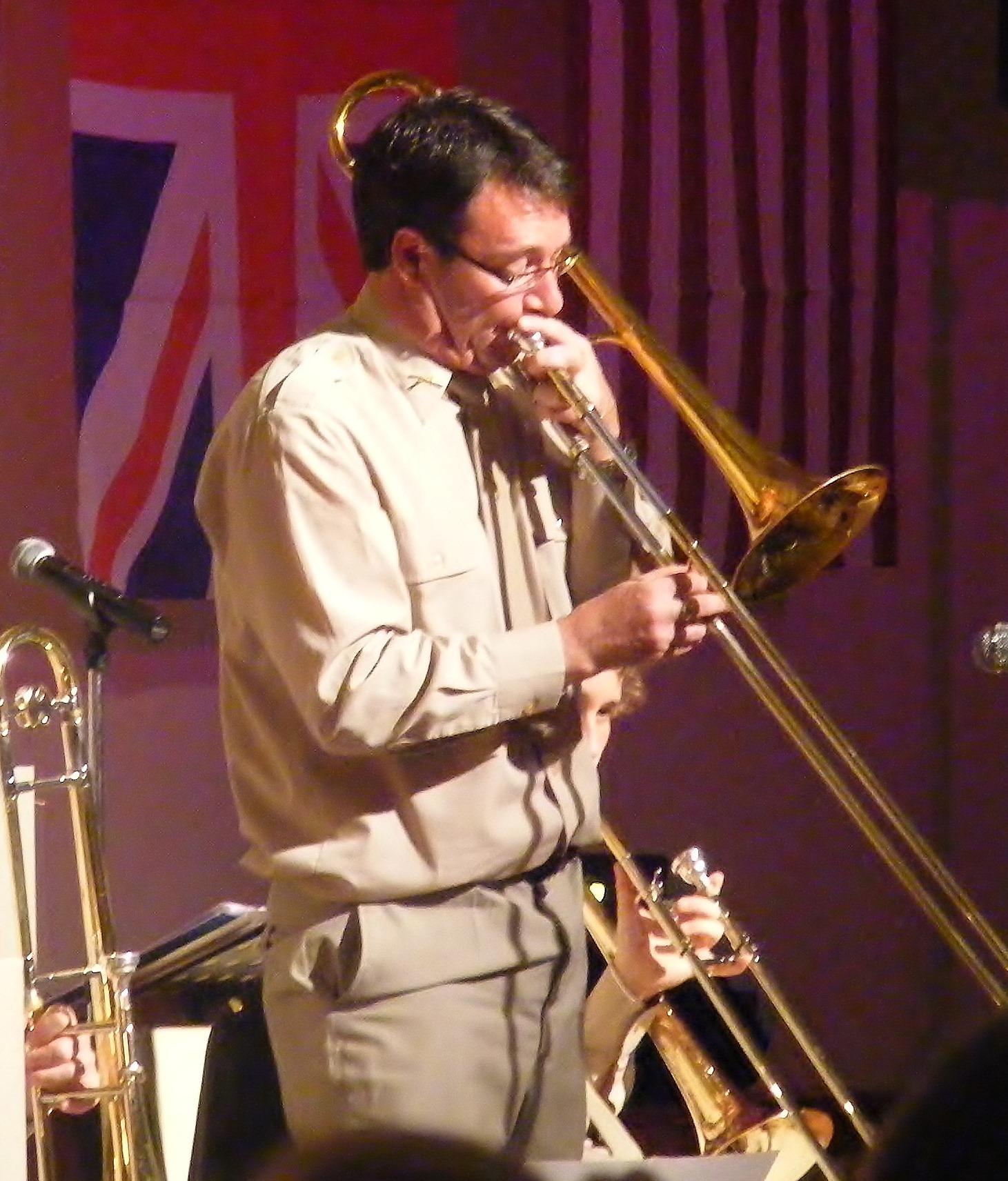 Paul on trombone