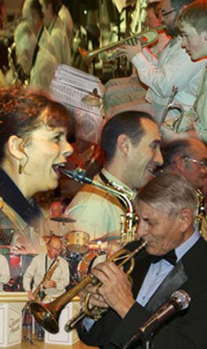 Musicians from the Glenn Hurst Big Band