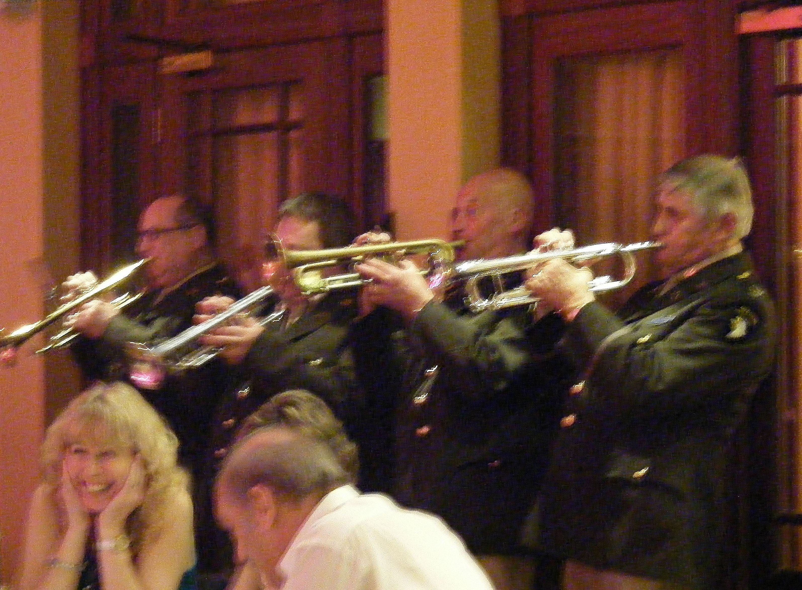Glenn Hurst trumpet section