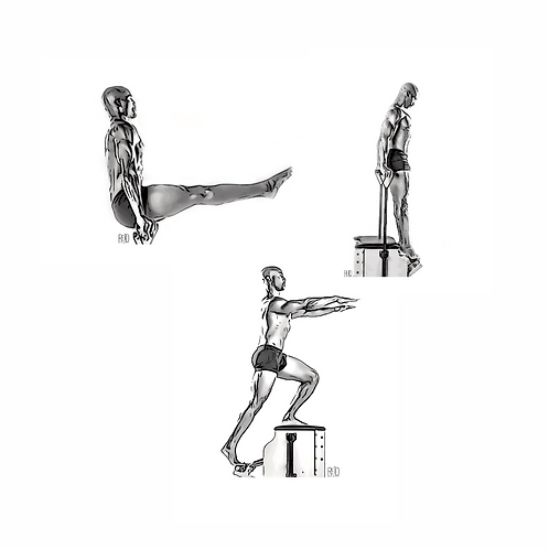 Male Pilates Digital Image Collection