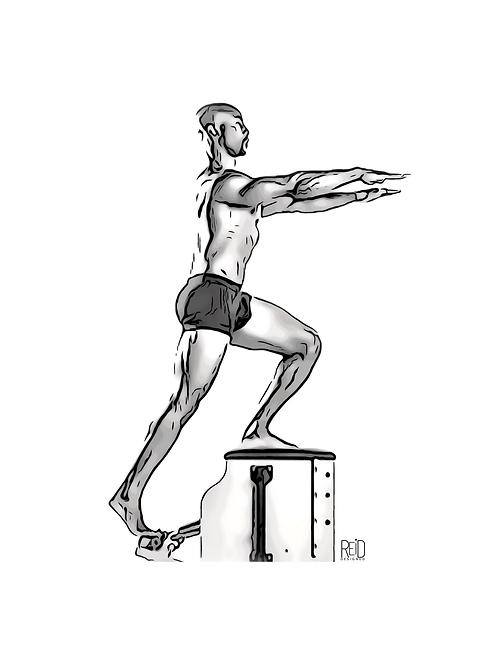 Male Pilates Digital Image