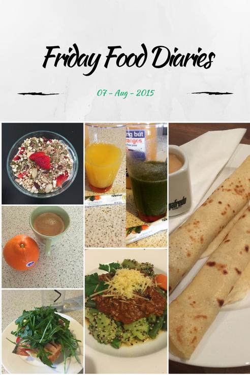 Friday Food Diaries  {7.8.15}
