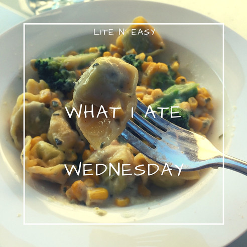What I ate Wednesday {13 April}