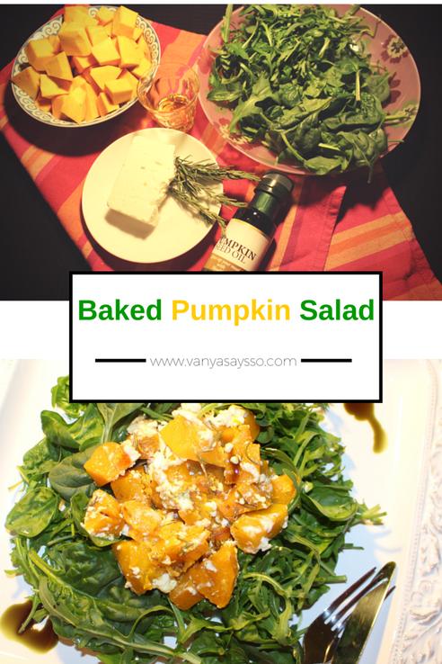 Baked Pumpkin Salad