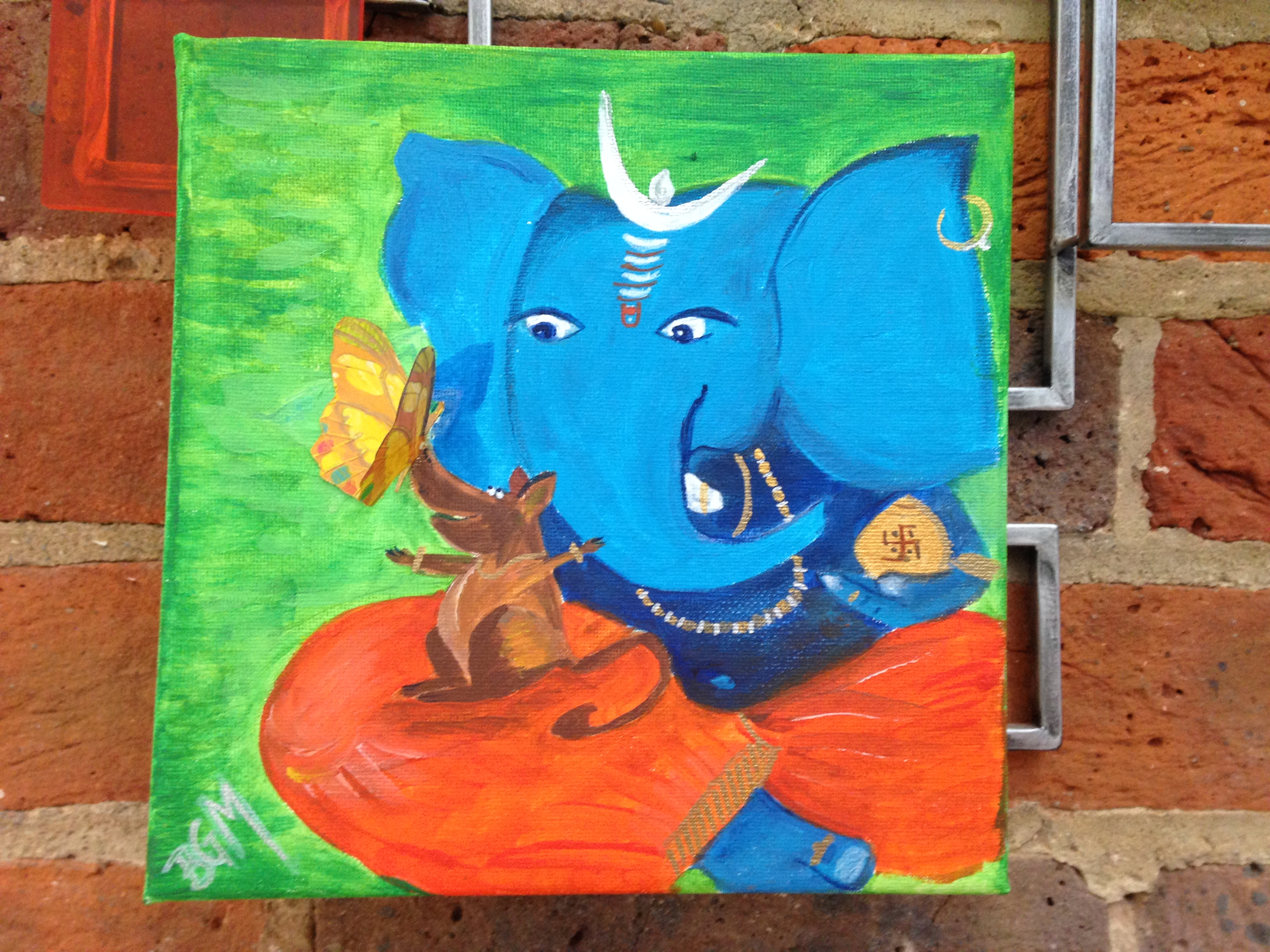 Playful Ganesh - Sold