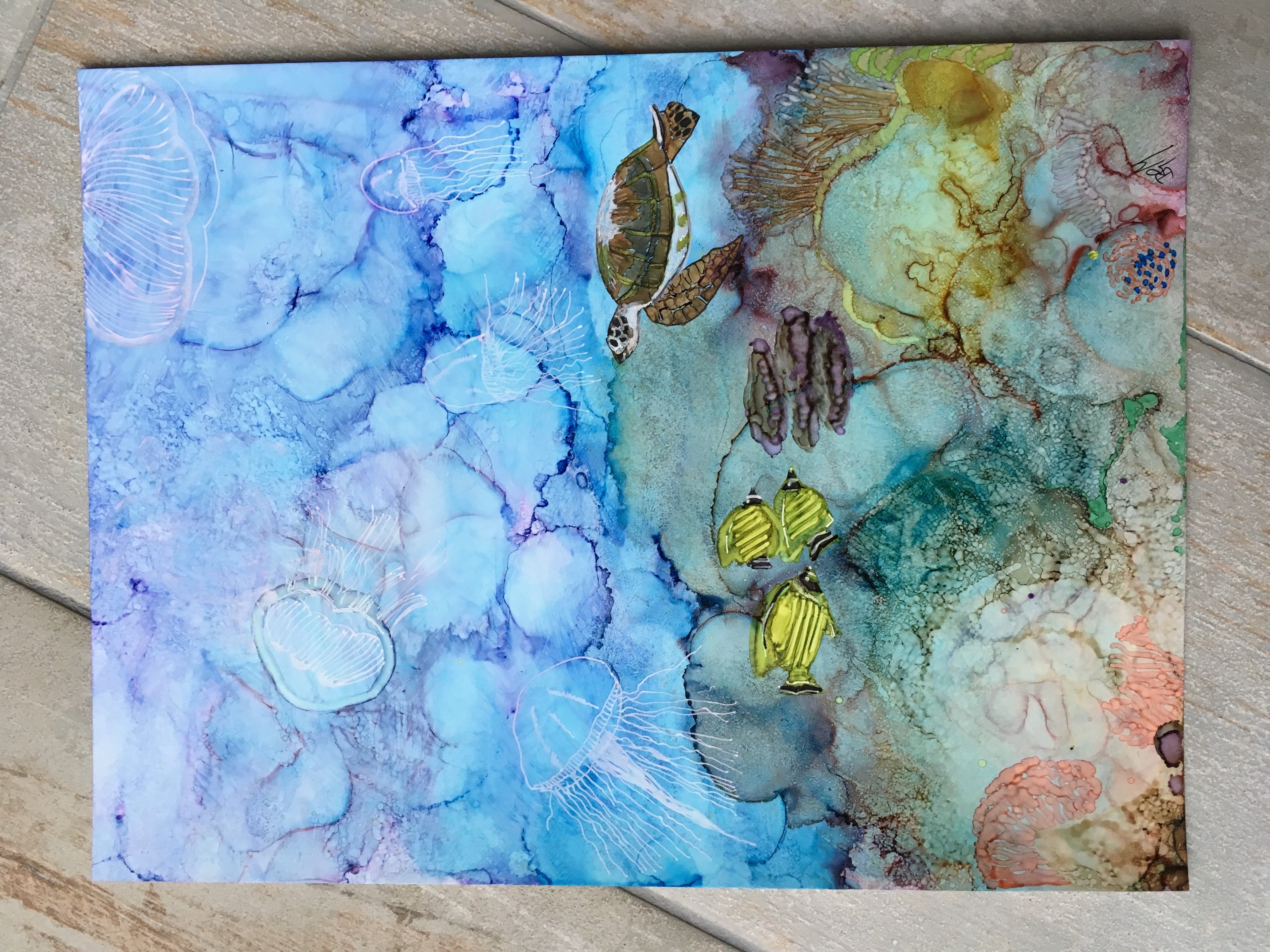 Under the Sea - This painting has been donated to Explorersagainstextinction.com A charity that rais