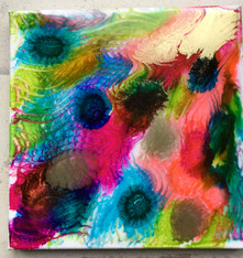 Abstract blooms  Sold.