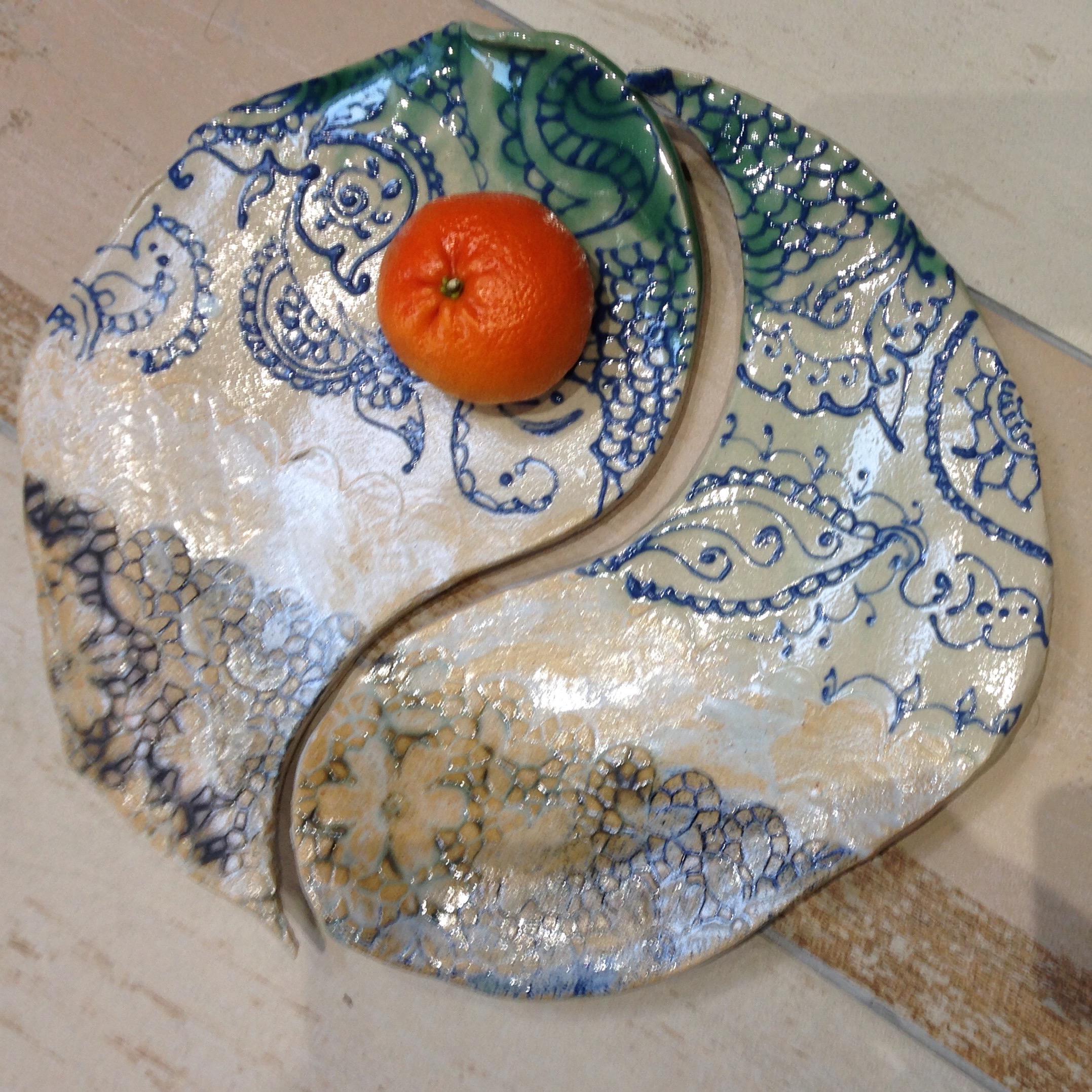 Yin & Yang platters - Sold
