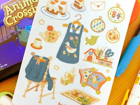 Animal Crossing Inspired Sticker Sheet Digital 2020