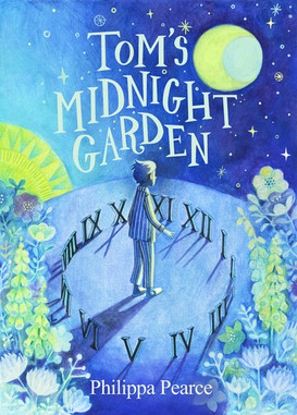 """Mock up cover for """"Tom's Midnight Garden"""" Watercolour pencil and gouache 2021"""