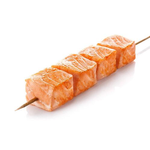 Мини-шашлычки из лосося