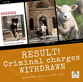 CRIMINAL CHARGES WITHDRAWN