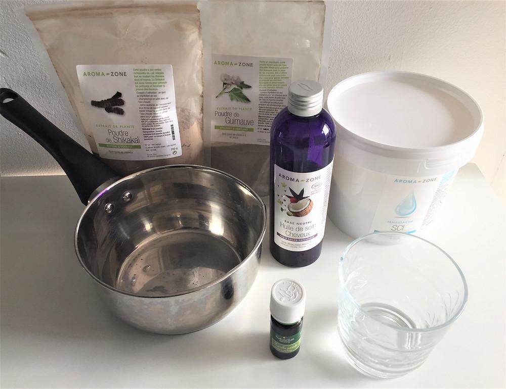 recette shampoing solide spécial pousse