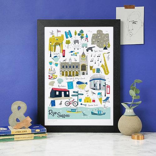 Rye Landmarks Print
