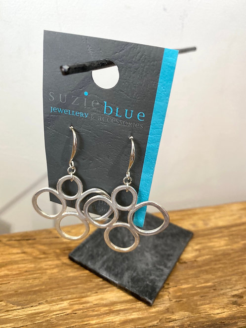 Silver Plated Circle Earrings
