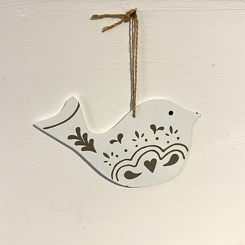 Hanging Nordic Dove Decoration