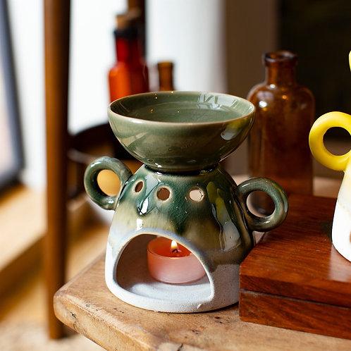 Green Ombre Glaze Oil Burner
