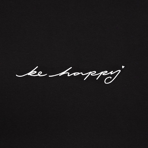 Chalk Robyn Top - Black/Be Happy