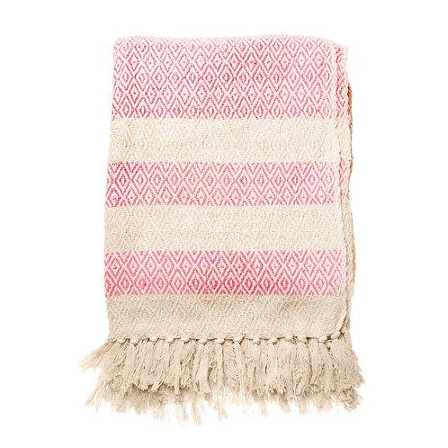 Pink Boho Blanket Throw