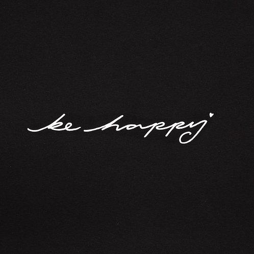 Chalk Tasha Top - Black/Be Happy