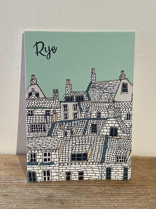 Rye Rooftops Postcard