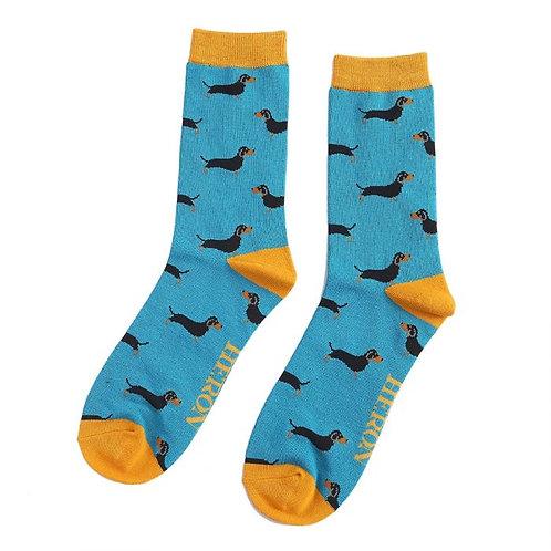 Mr Heron Sausage Dog Socks