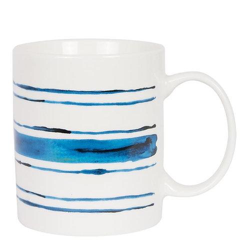 Mixed Blue Stripe Mug