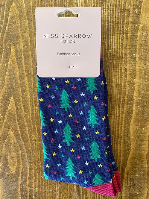 Miss Sparrow Christmas Socks