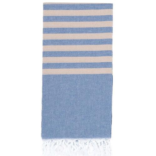 Lightweight Hamam Towel - Denim/Stone