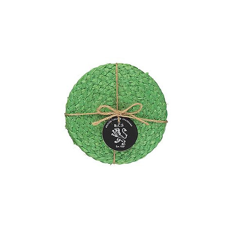 Green Jute Coasters (Set of 4)