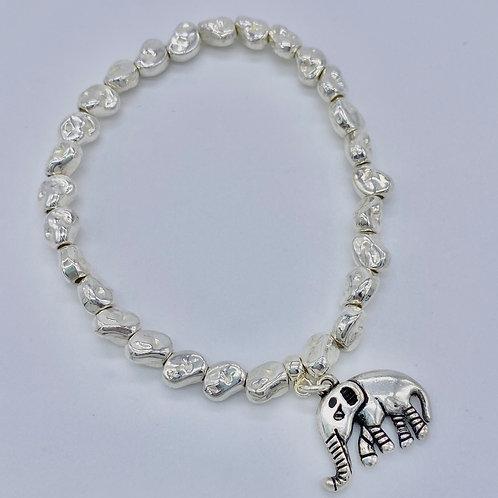 Silver Plated Elephant Bracelet