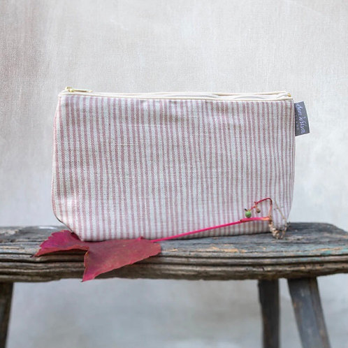 Sam Wilson Wash Bag - Pink Stripe