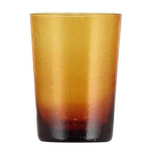 Handmade Amber Glass Tumbler