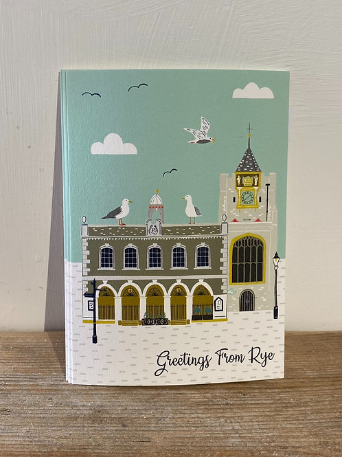 Rye Town Hall and Church Postcard