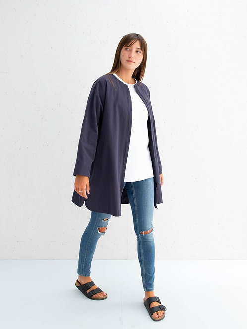 Chalk Mia Coat - Navy