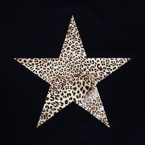Chalk Robyn Top - Black/Leopard Star