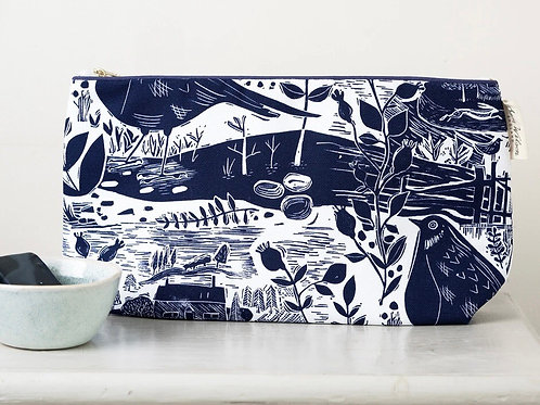 Sam Wilson Wash Bag - Garden Bird