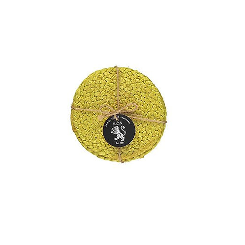 Yellow Jute Coasters (Set of 4)