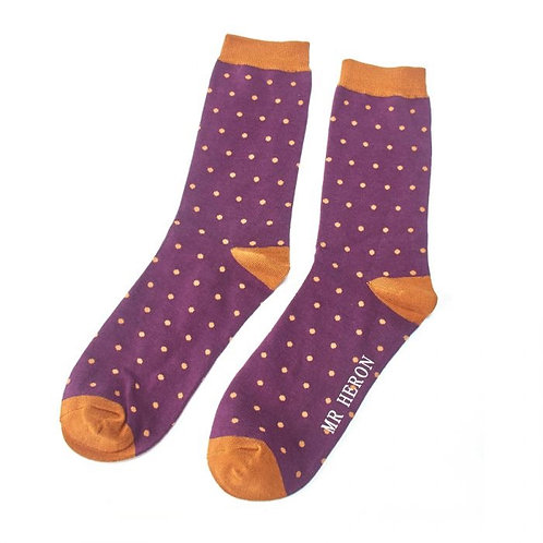 Mr Heron Polka Dot Socks