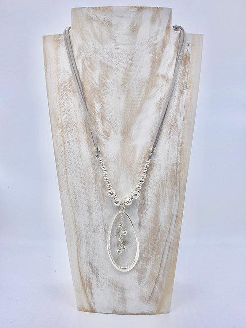 Open Ring Pendant Necklace