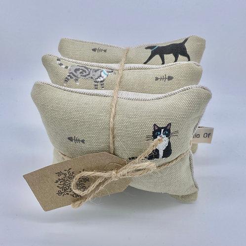 Lavender Drawer Sachets (3) - Cat Print