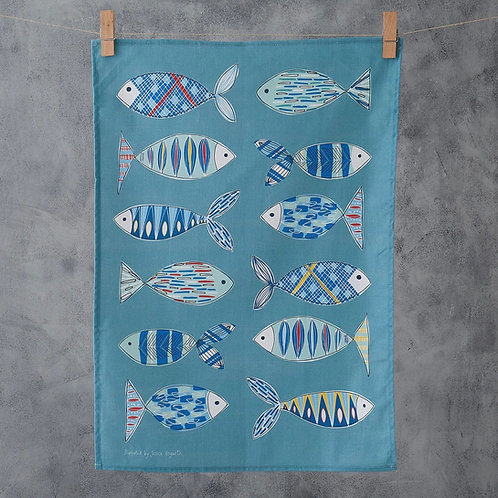 Fish Illustration Tea Towel