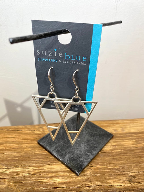 Silver Plated Triangle Earrings