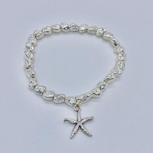 Silver Plated Starfish Bracelet