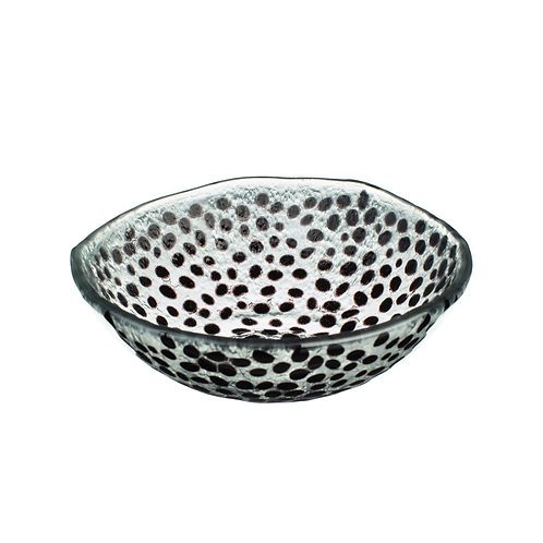 Black Dotty Glass Bowl