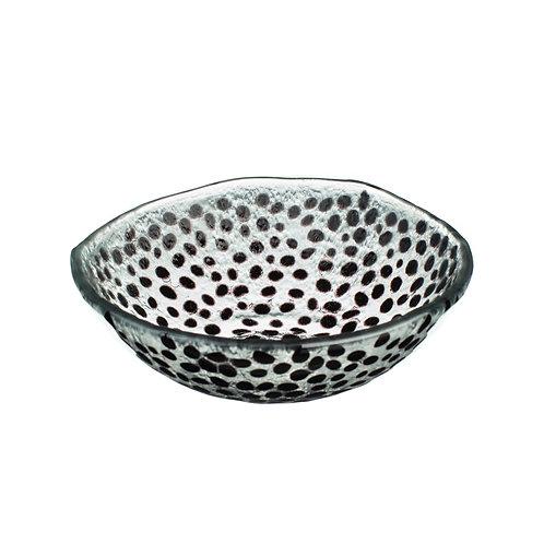 Black Dotty Glass Bowl
